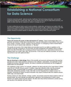 Establishing a National Consortium for Data Science